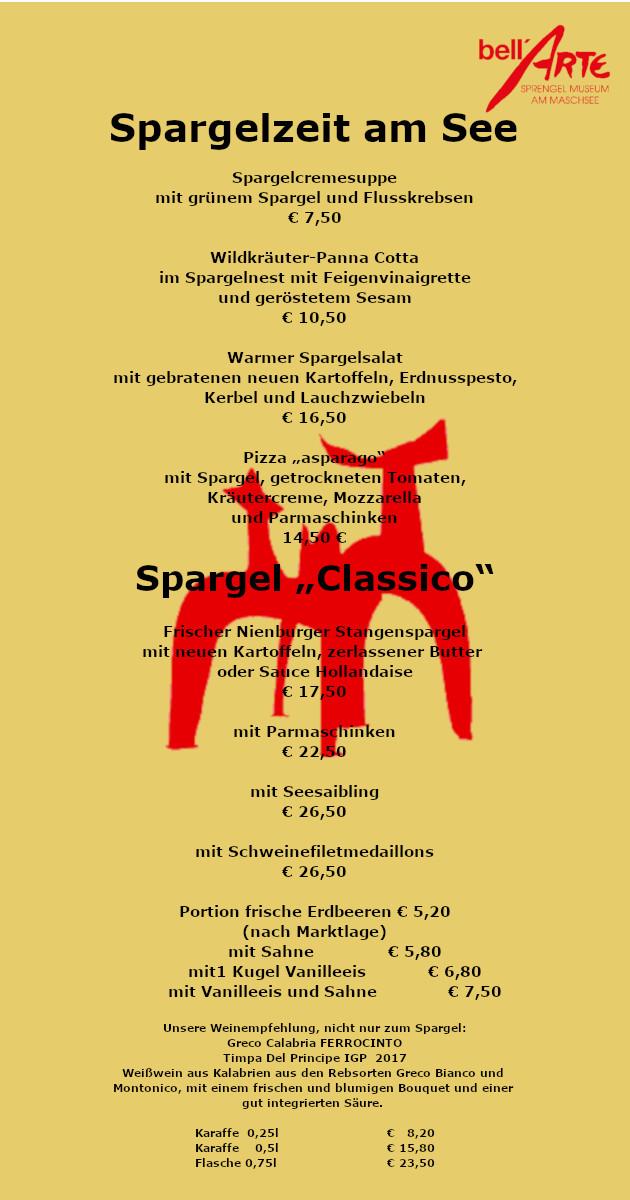 Specials Bellarte Restaurant Hannover Restaurant Mit
